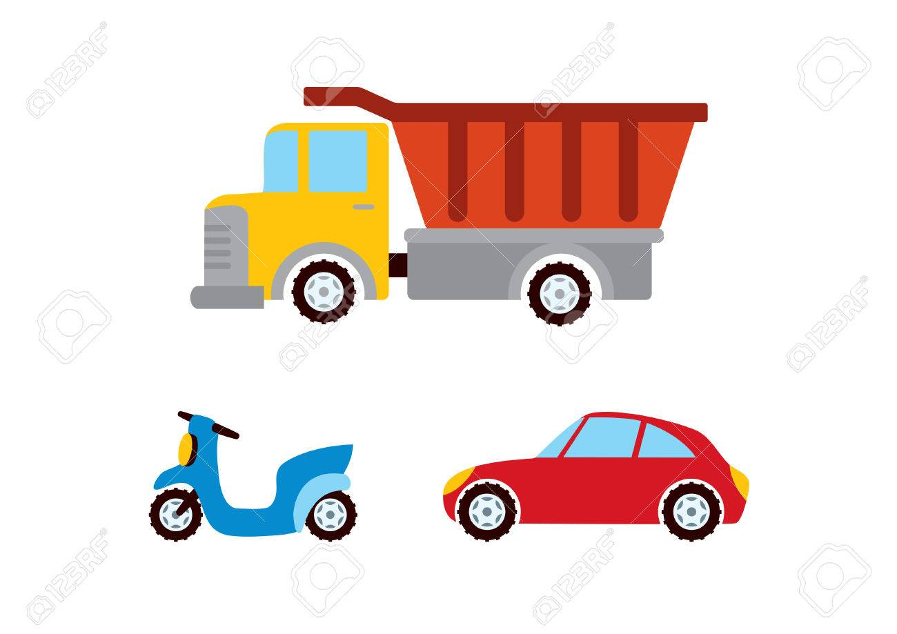 Spielzeugauto Vektor Verschiedene Verkehrsmittel Cartoon Auto