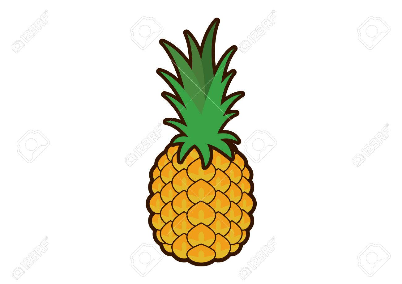 pineapple vector pineapple clip art pineapple icon on a white rh 123rf com black and white pineapple clipart pineapple clip art outline