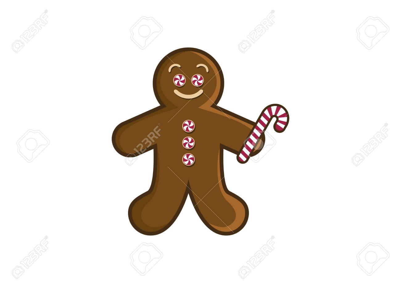 Christmas Gingerbread Man Vector Gingerbread Isolated On White