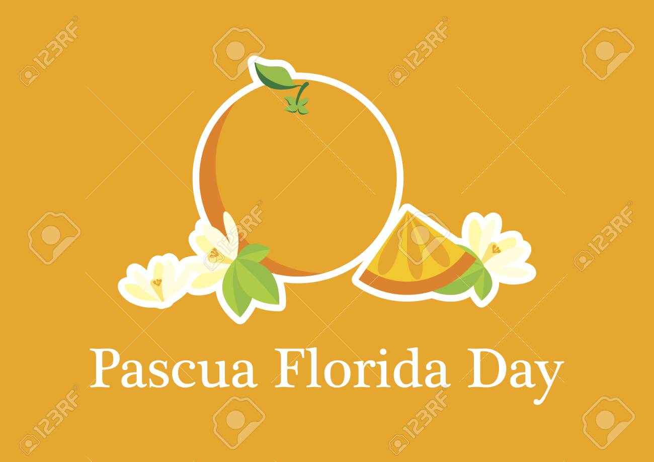 Pascua Florida Day vector  Feast of flowers  Easter season in