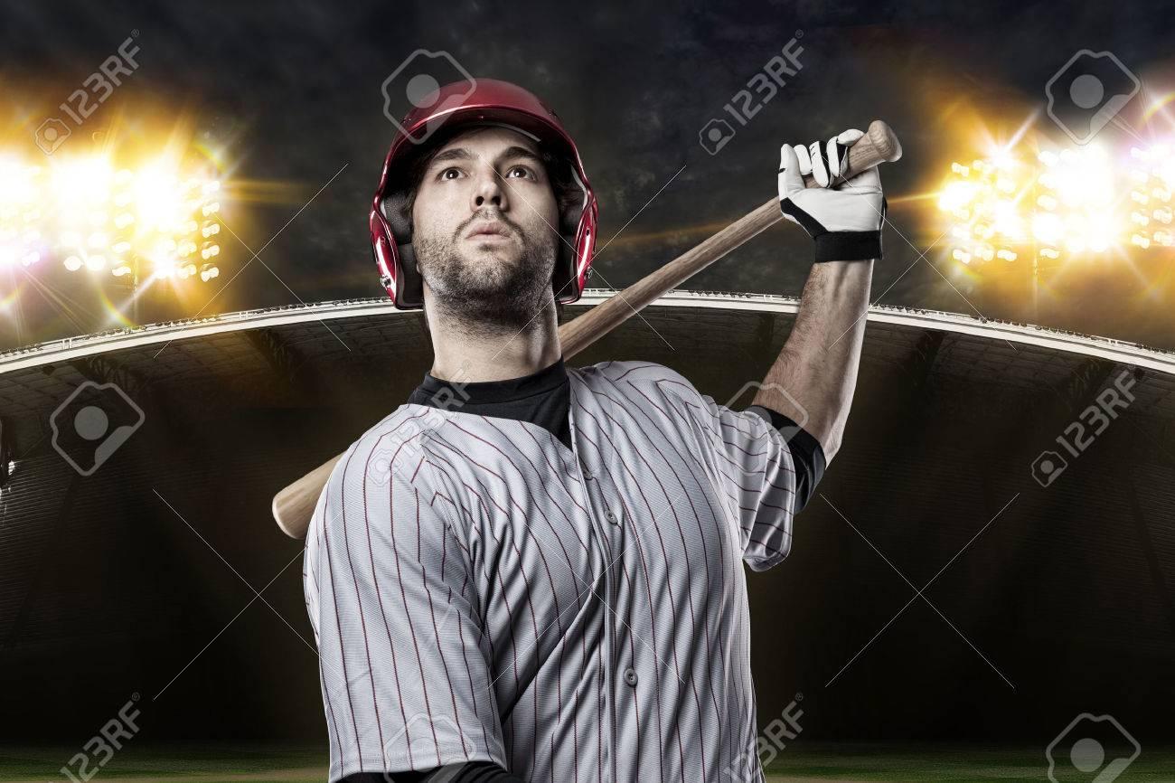 Baseball Player on a baseball Stadium. - 27528412