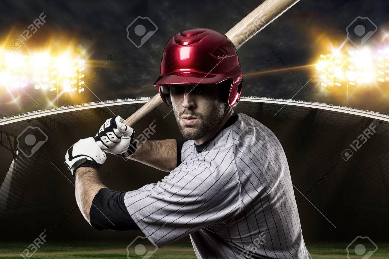 Baseball Player on a baseball Stadium. - 27529167