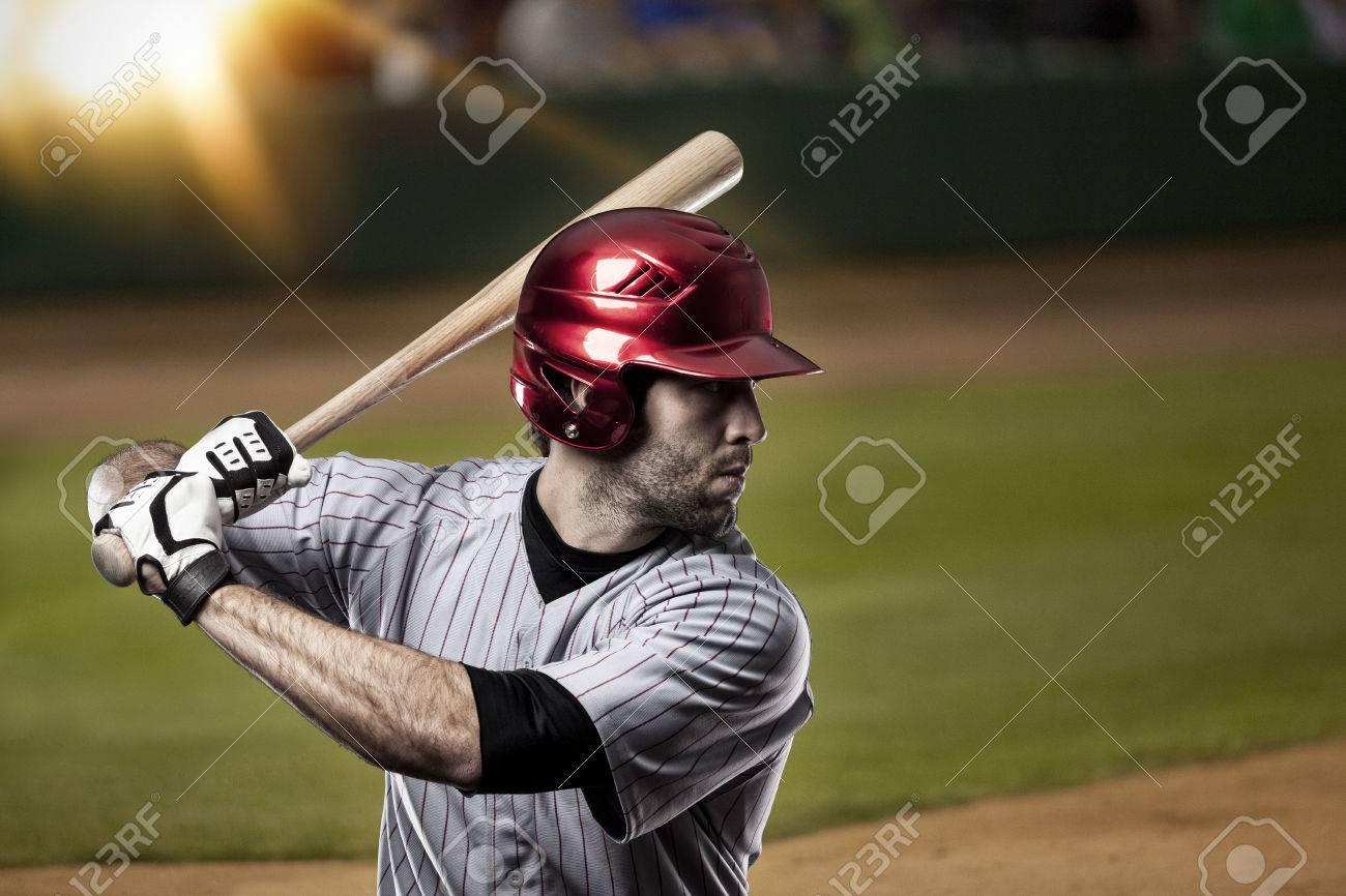 Baseball Player on a baseball Stadium. - 27529172