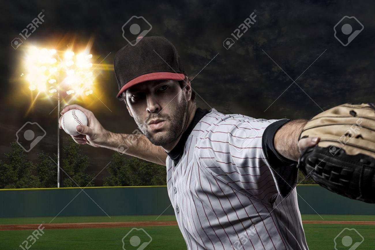 Baseball Player on a baseball Stadium. - 27529250
