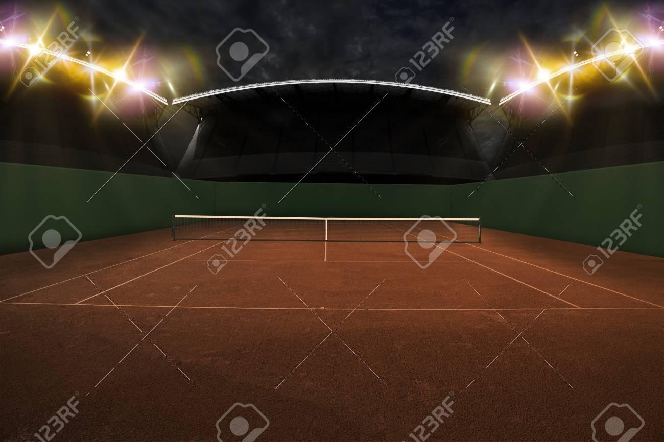 Tennis Court Stadium. - 50886021