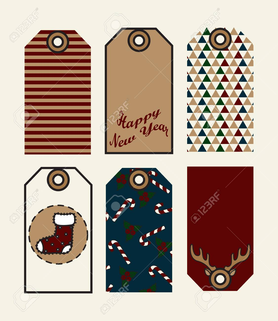 ilustración de etiquetas de regalo de navidad lindas etiquetas para