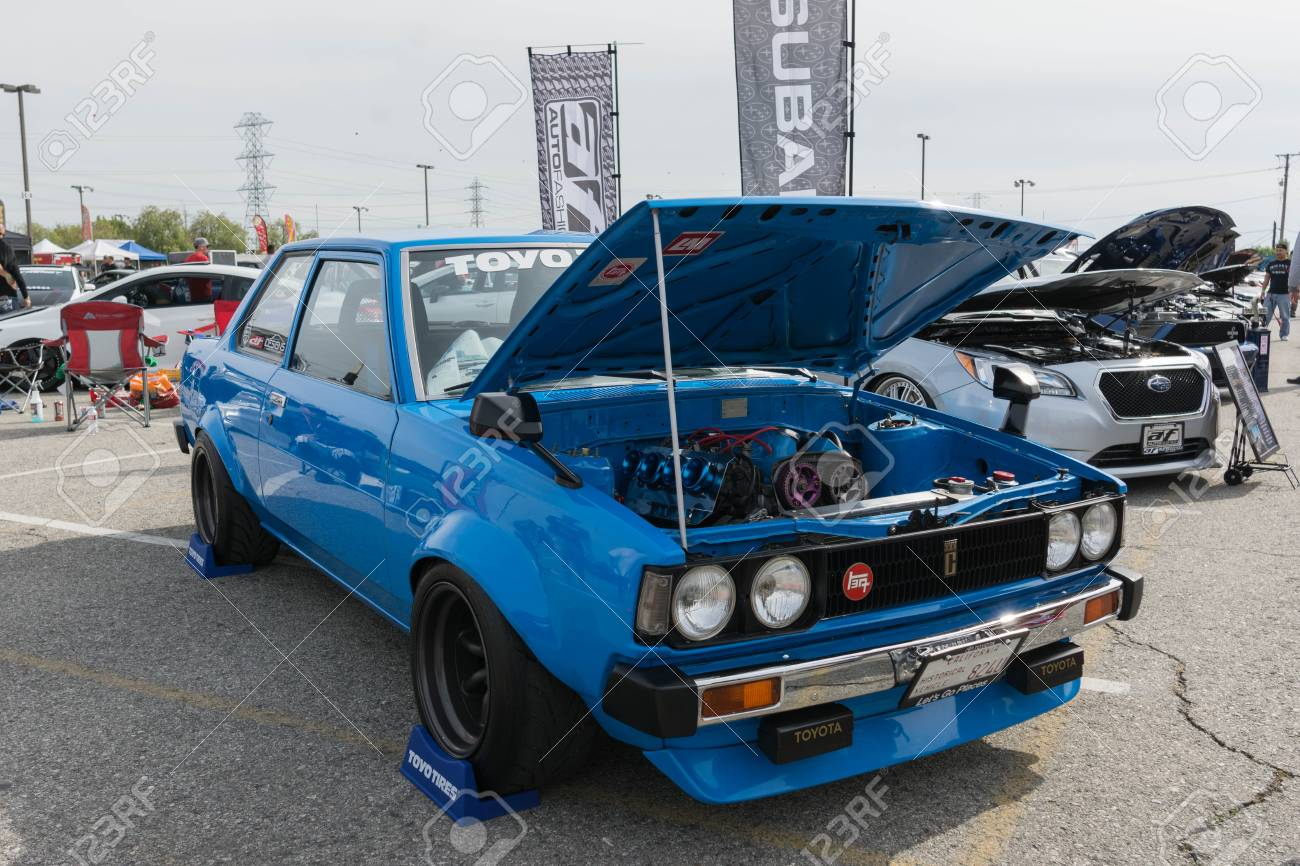 Irwindale Usa March 4 2017 Toyota Corolla Modified On Display