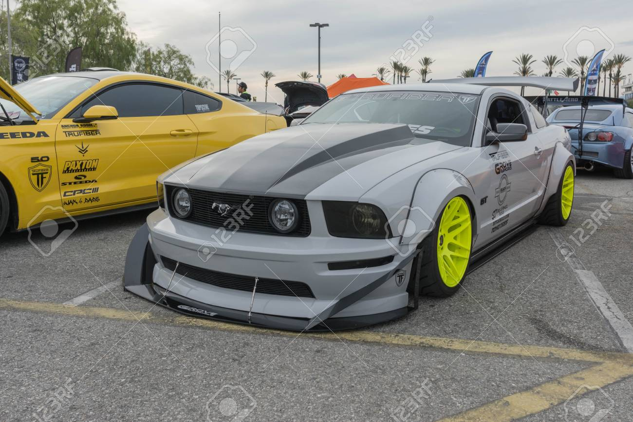 Irwindale usa march 4 2017 ford mustang gt modified on display during