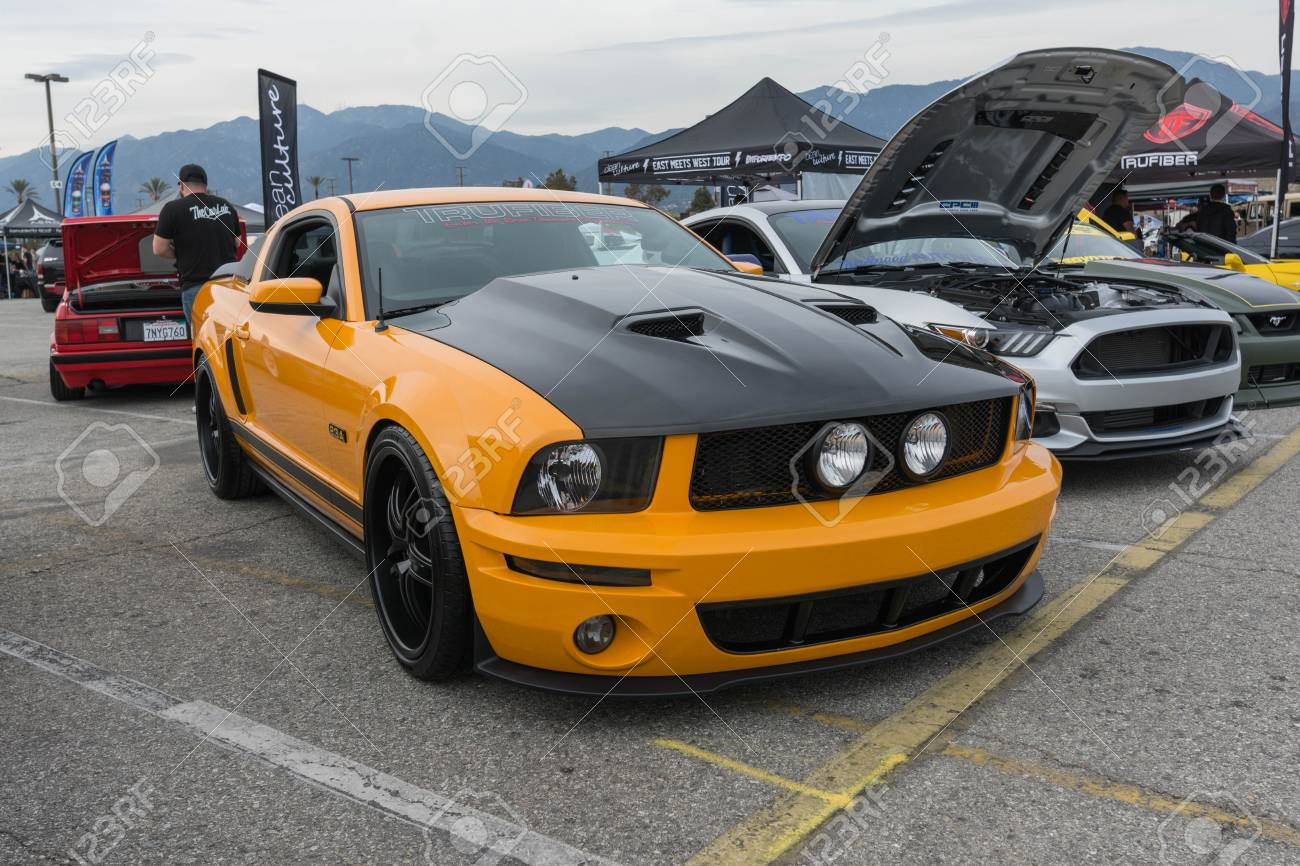 Irwindale usa march 4 2017 ford mustang modified on display during 742