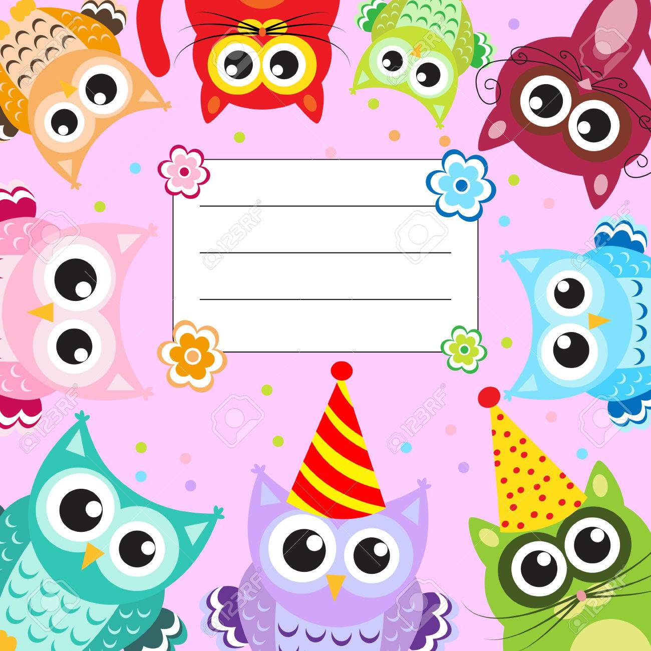 Greeting Happy Birthday Baby Animals Royalty Free Cliparts Vectors
