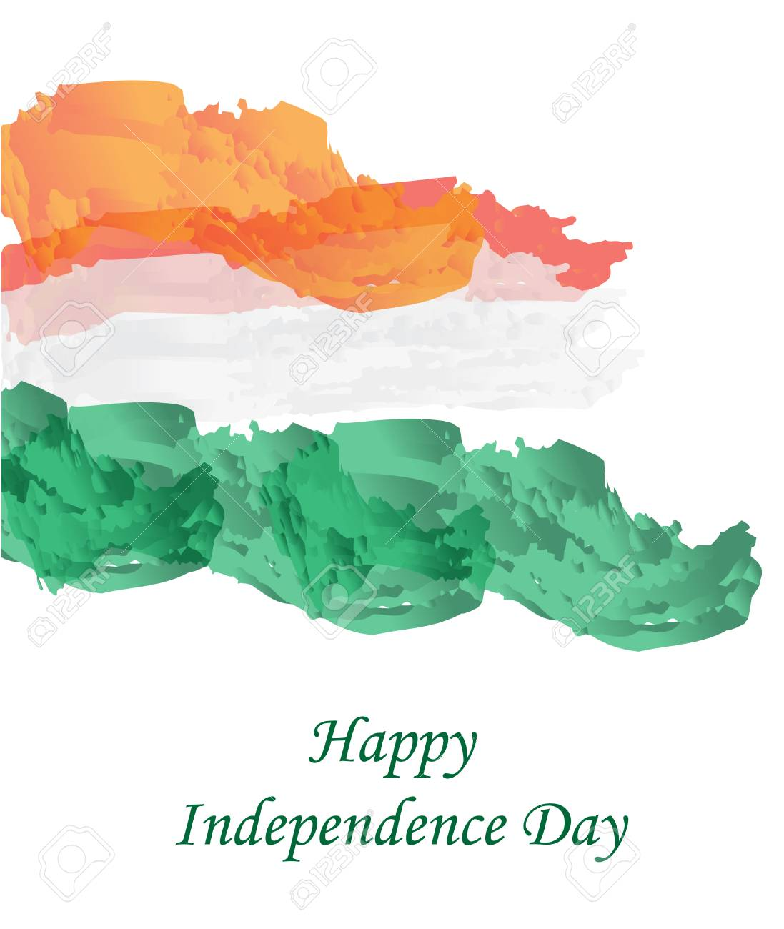 Happy India Independence Day Independence Day Greeting Card