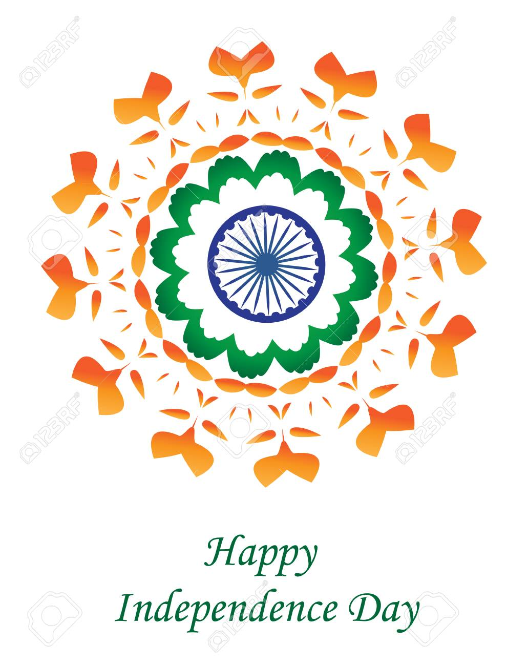 Happy india independence day independence day greeting card happy india independence day independence day greeting card india vector illustration stock vector m4hsunfo