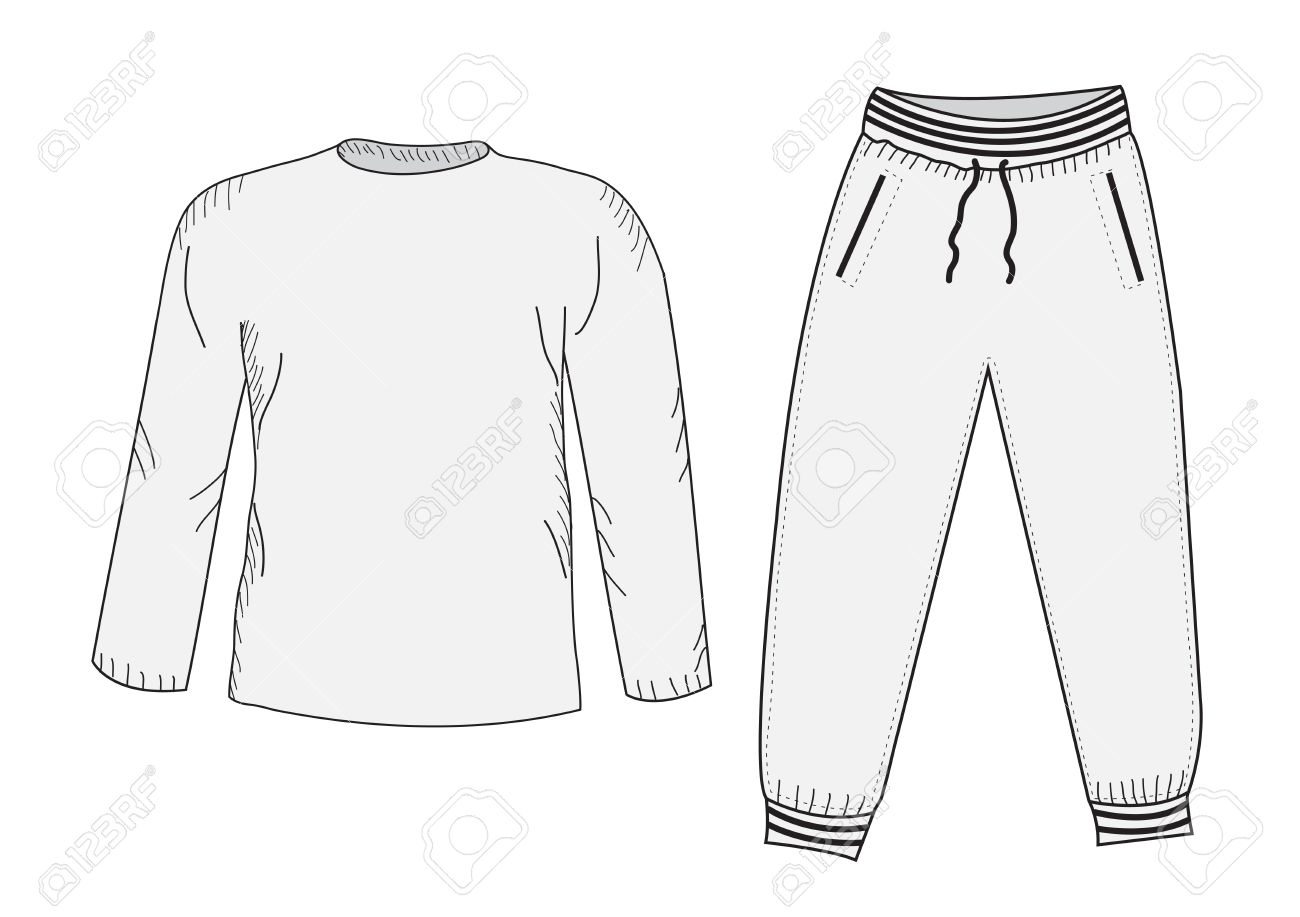 Jacket and sweatpants  Tracksuit, sketch set  Things in the style