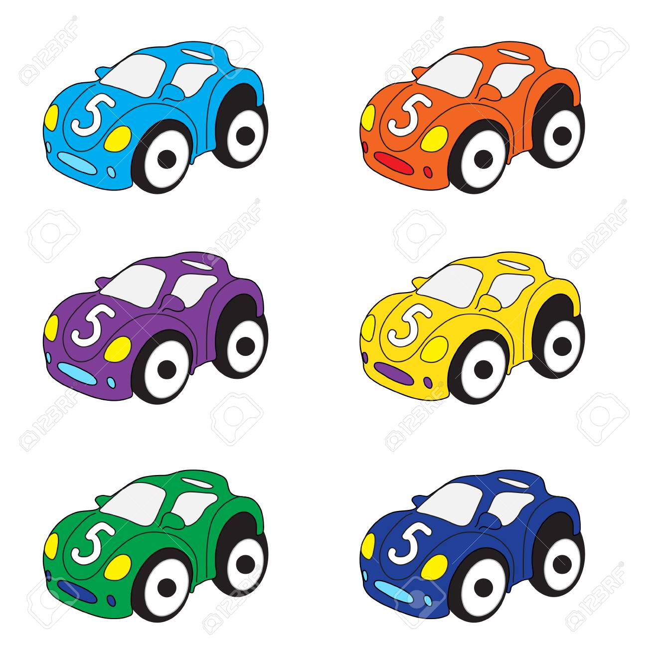 Kids Cars Cartoon Set Cars Toys Vector Illustration Royalty Free Cliparts Vectors And Stock Illustration Image 60614225