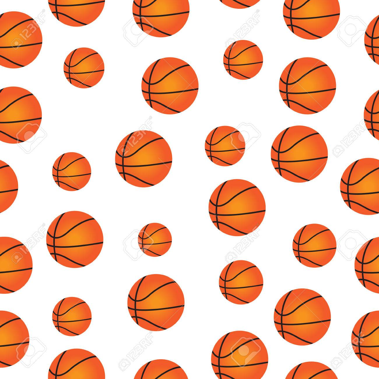 Cute Baby Seamless Texture Basketball Balls Basketball Wallpaper