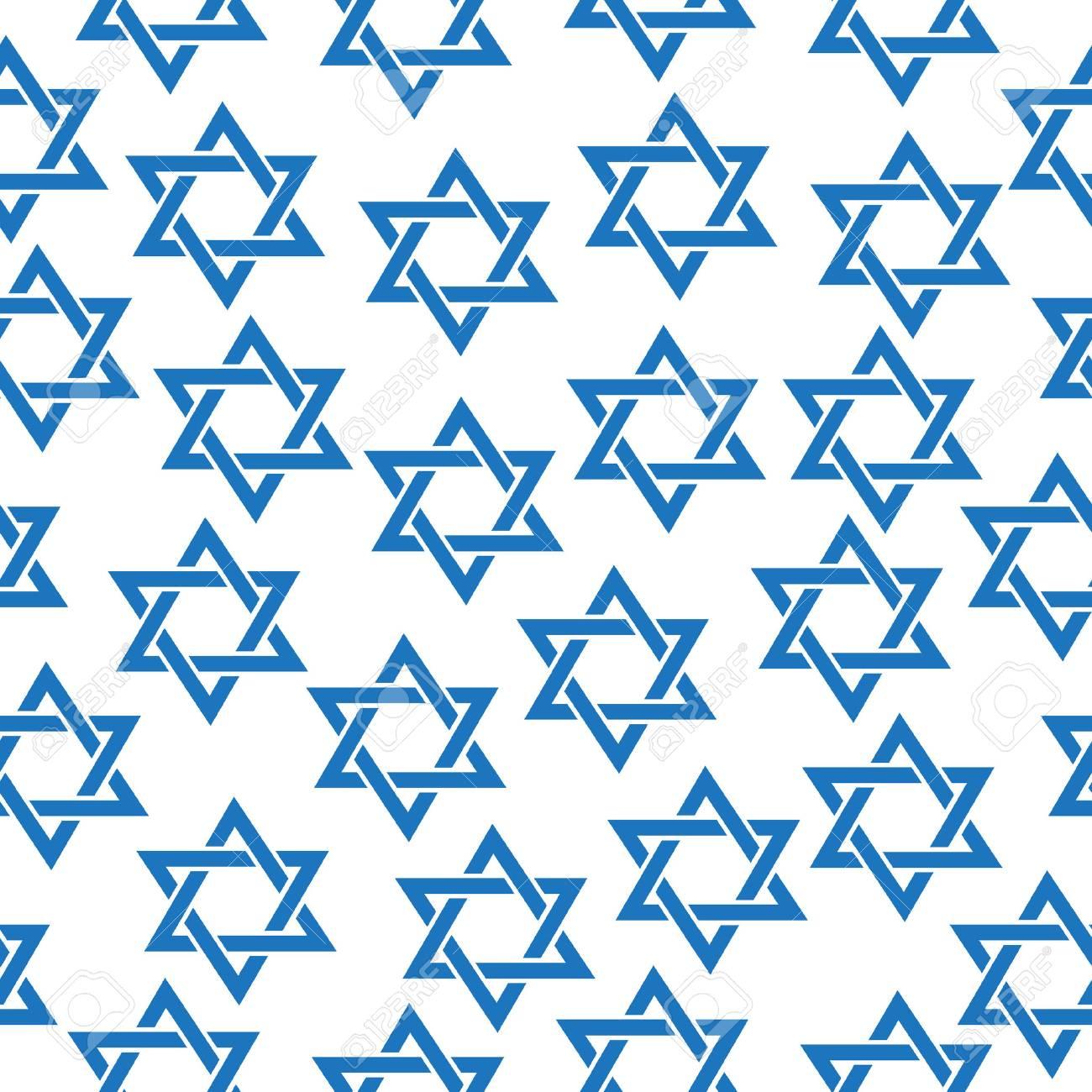 Seamless pattern of the Star of David. Simfol Jewish Star of David pattern, texture