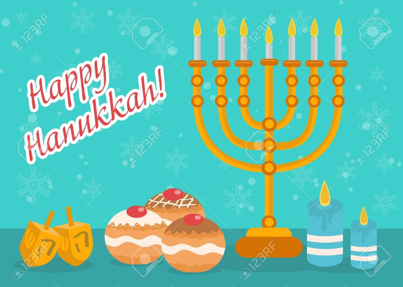 Happy hanukkah greeting card invitation poster hanukkah jewish happy hanukkah greeting card invitation poster hanukkah jewish festival of lights feast m4hsunfo
