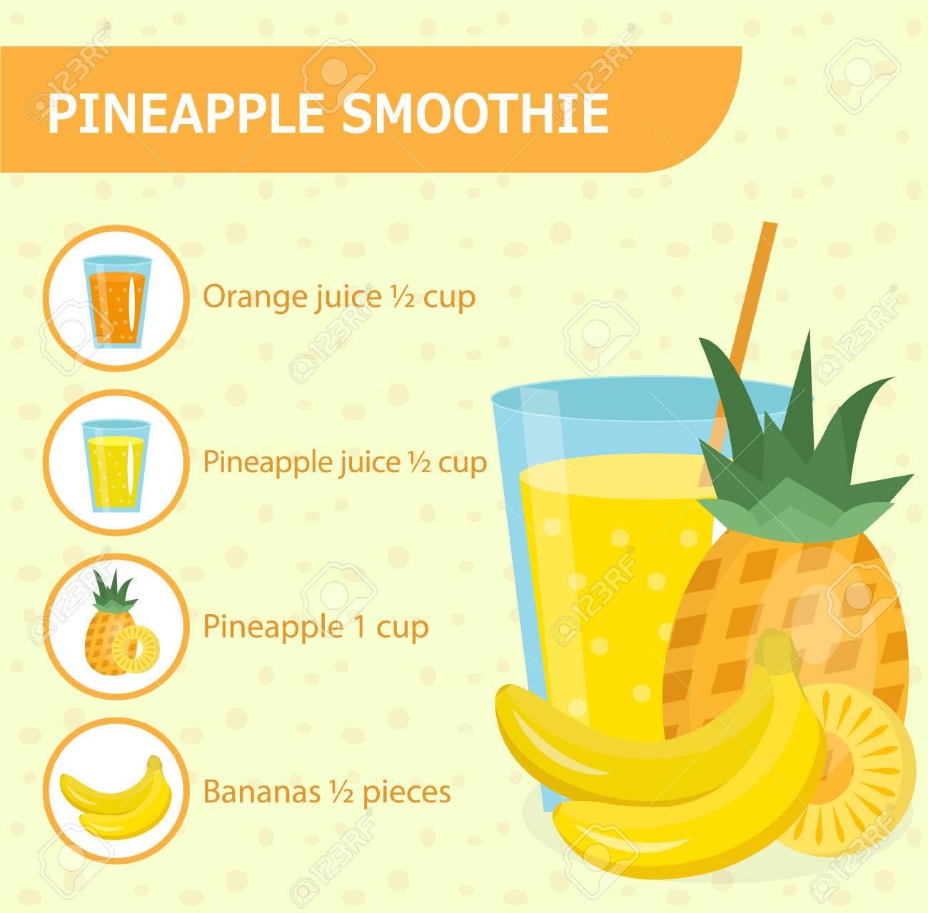 Ananas Smoothie Recept Met Ingrediënten. Smoothies, Milkshake ...
