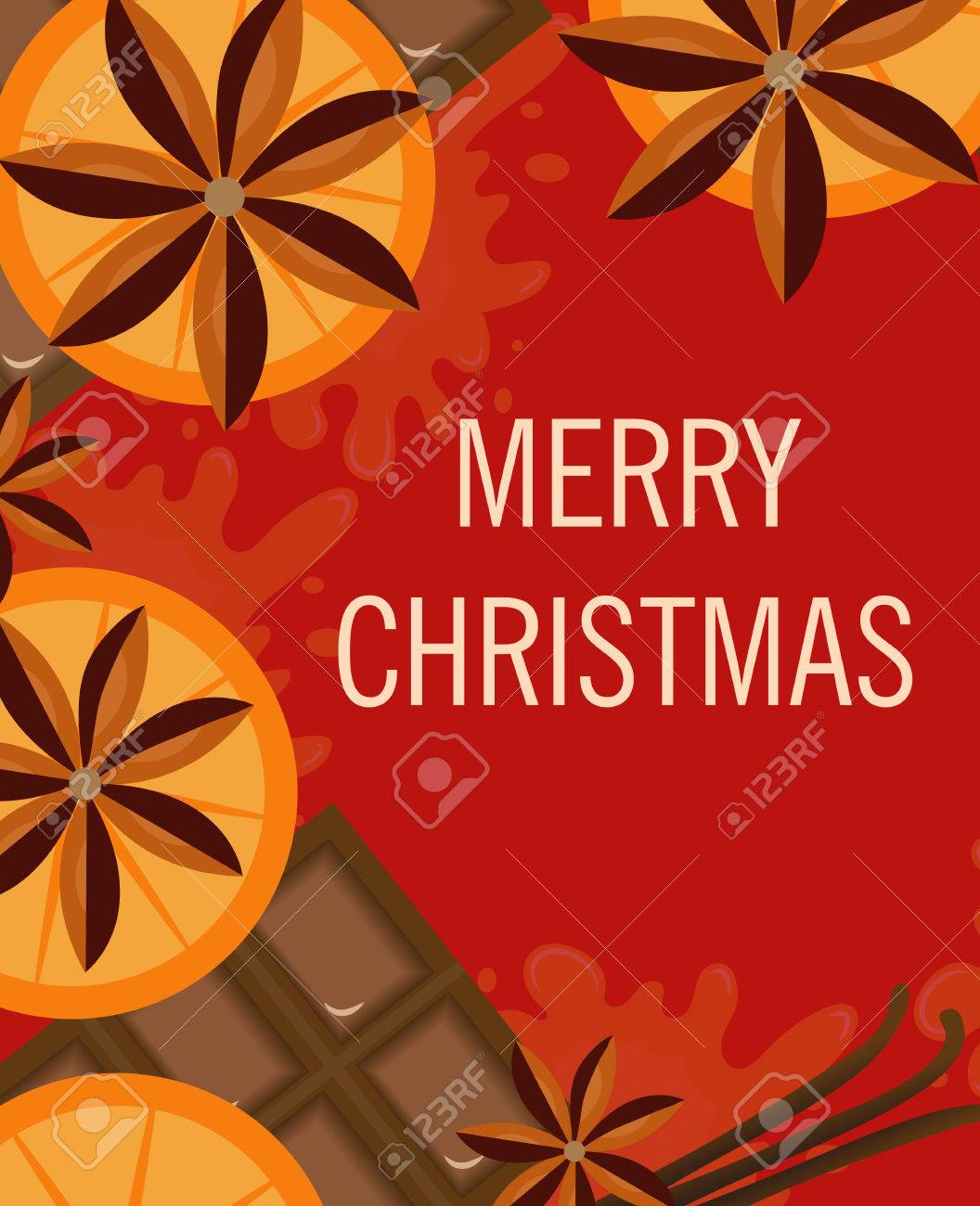 Christmas background with orange and spices christmas greeting christmas background with orange and spices christmas greeting card template for the poster m4hsunfo Choice Image