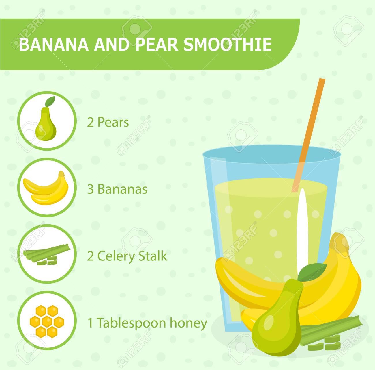 Bananen En Peren Smoothie Recept Met Ingrediënten. Smoothies ...
