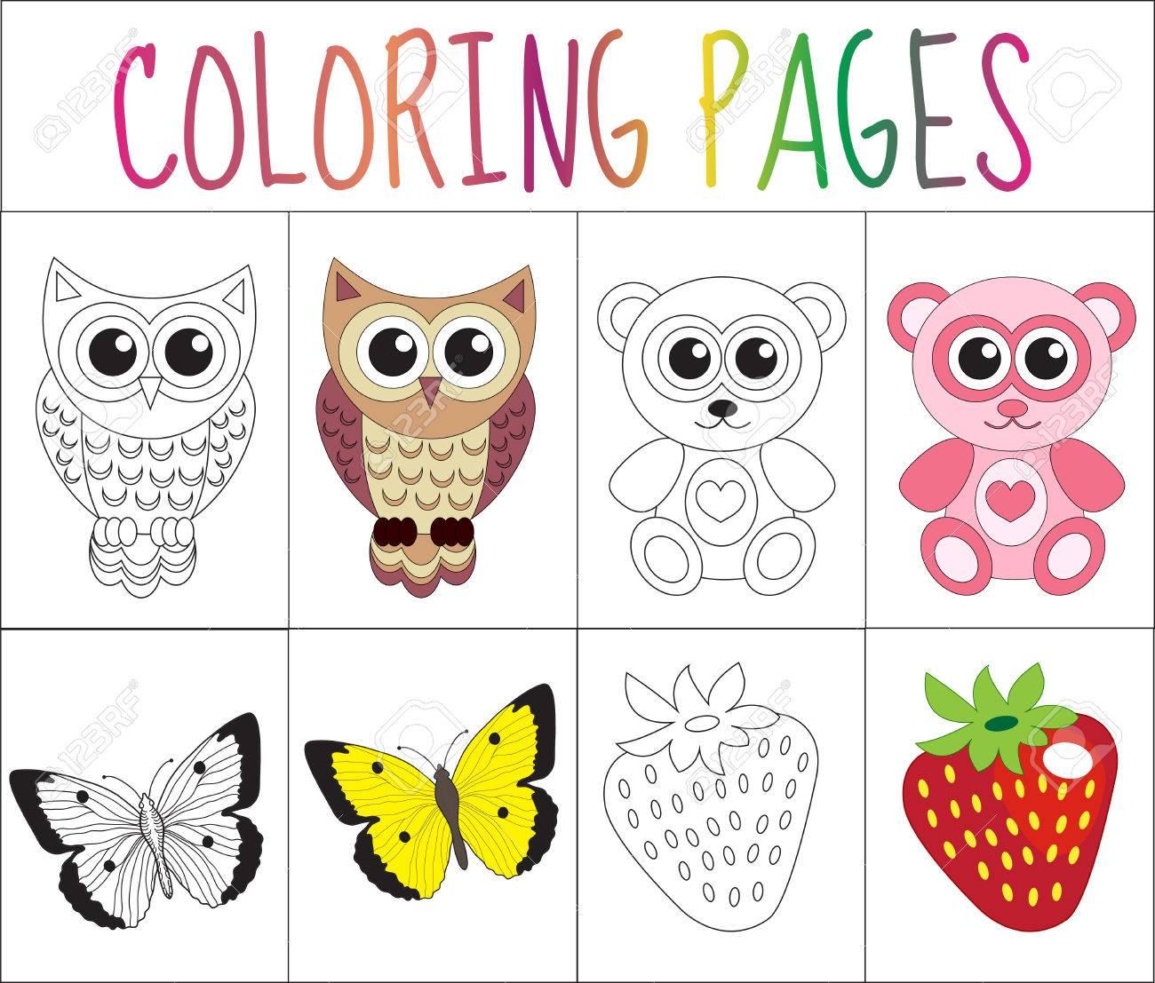 Excelente Color Libro Páginas Animales Composición - Enmarcado Para ...