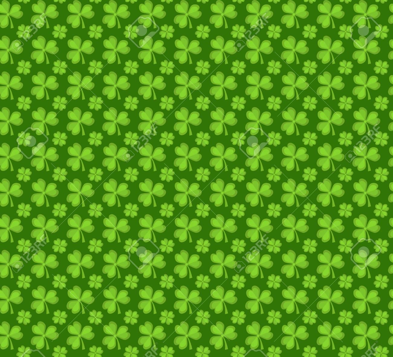 クローバーのシームレスなパターン 背景 テクスチャ 壁紙 聖