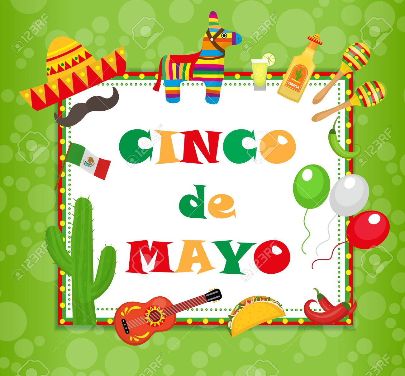 Cinco de mayo greeting card template for flyer poster invitation cinco de mayo greeting card template for flyer poster invitation stock vector m4hsunfo