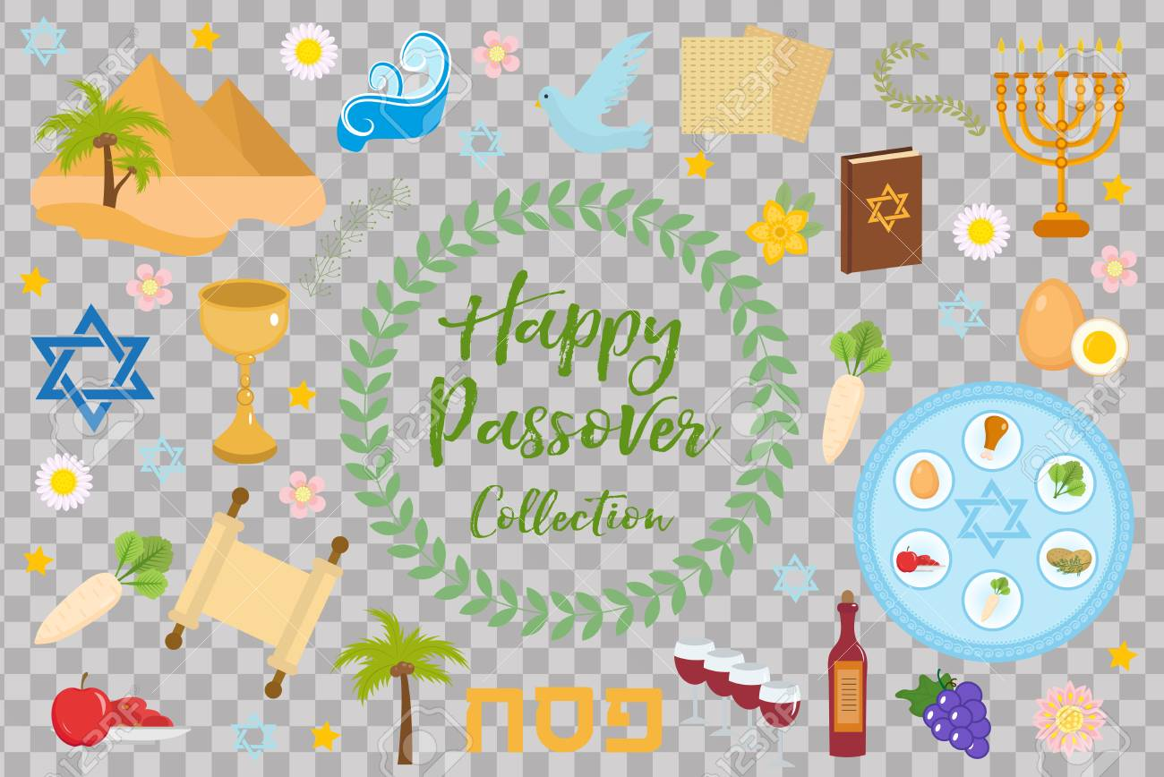 Passover icons set flat cartoon style jewish holiday of exodus passover icons set flat cartoon style jewish holiday of exodus egypt collection buycottarizona