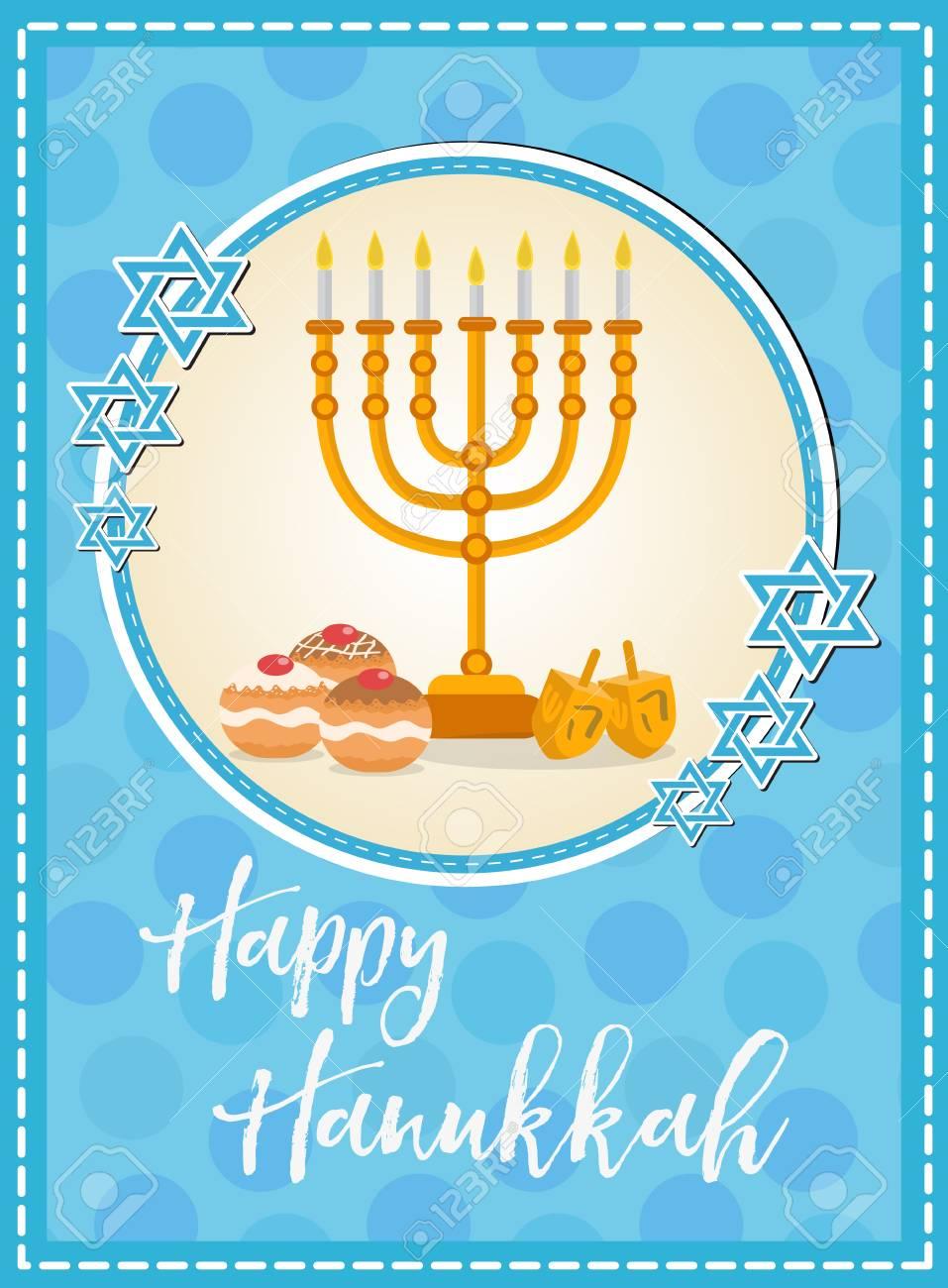 Happy hanukkah greeting card flyer poster template for your happy hanukkah greeting card flyer poster template for your invitation design with m4hsunfo