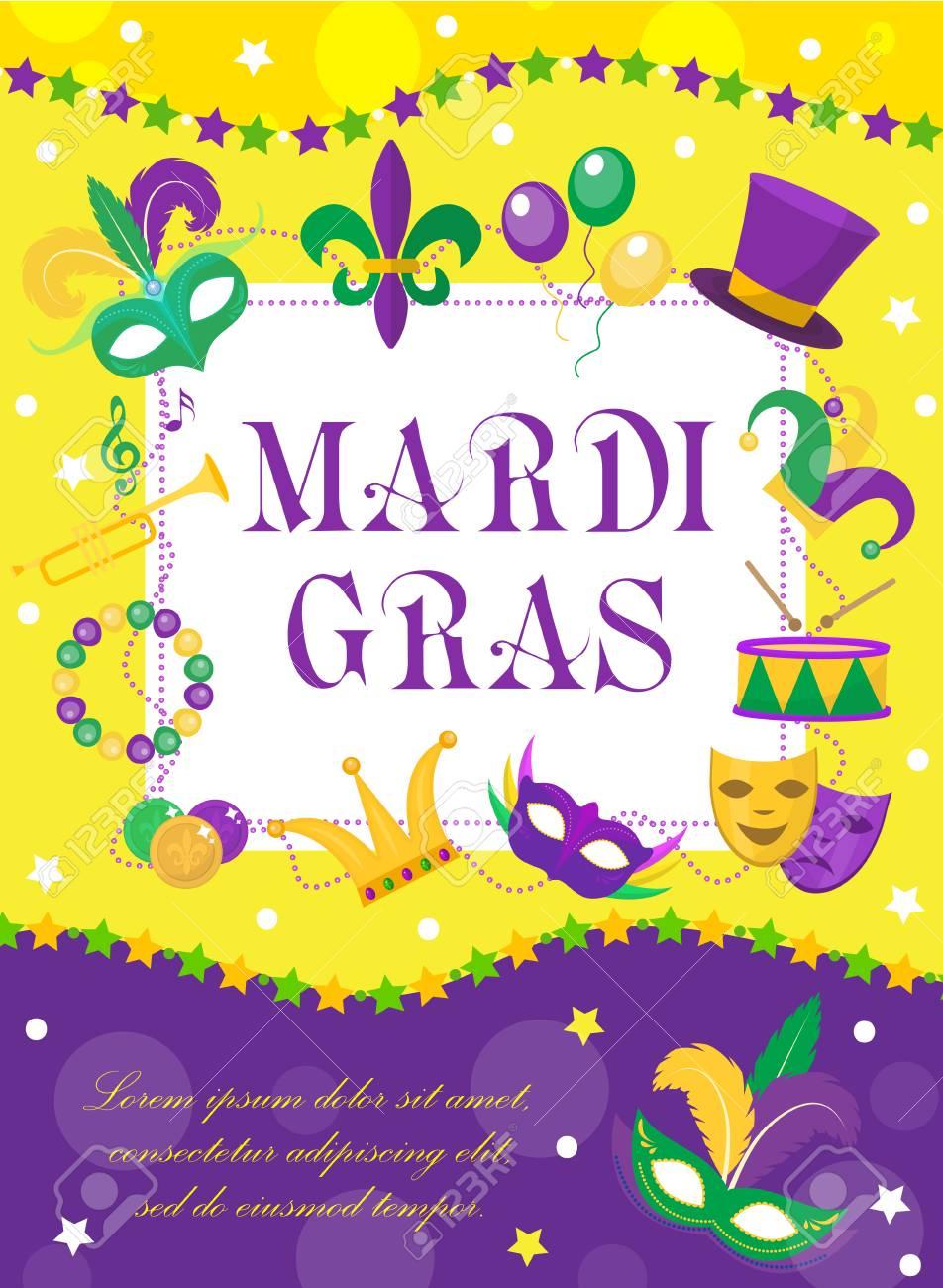 Magnífico Libre De Mardi Gras Para Colorear Imagen - Enmarcado Para ...