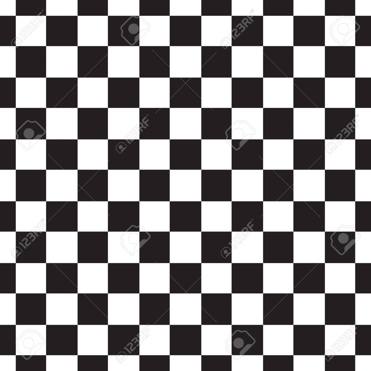 Checkerboard Seamless Pattern Black And White Abstract Geometric