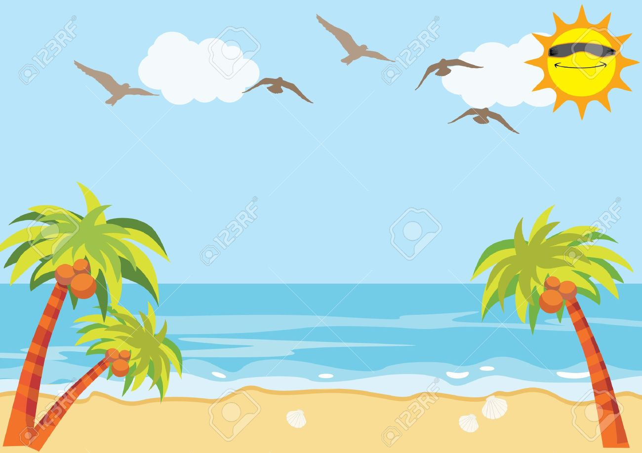 sea sand beach background royalty free cliparts vectors and stock rh 123rf com summer beach background clipart beach background images clipart