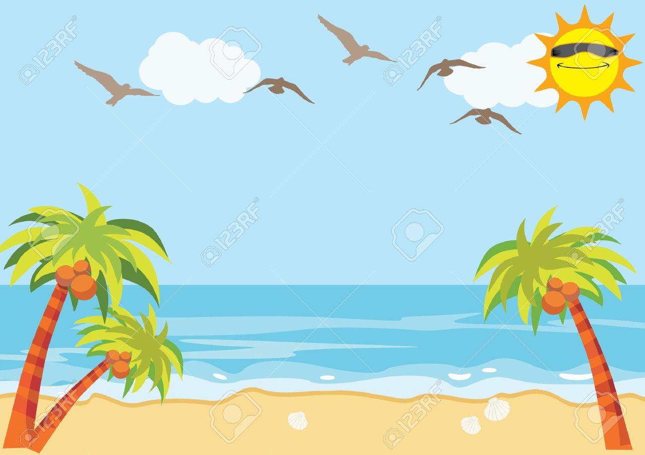 sea sand beach background royalty free cliparts vectors and stock rh 123rf com hawaiian beach background clipart beach background clipart free