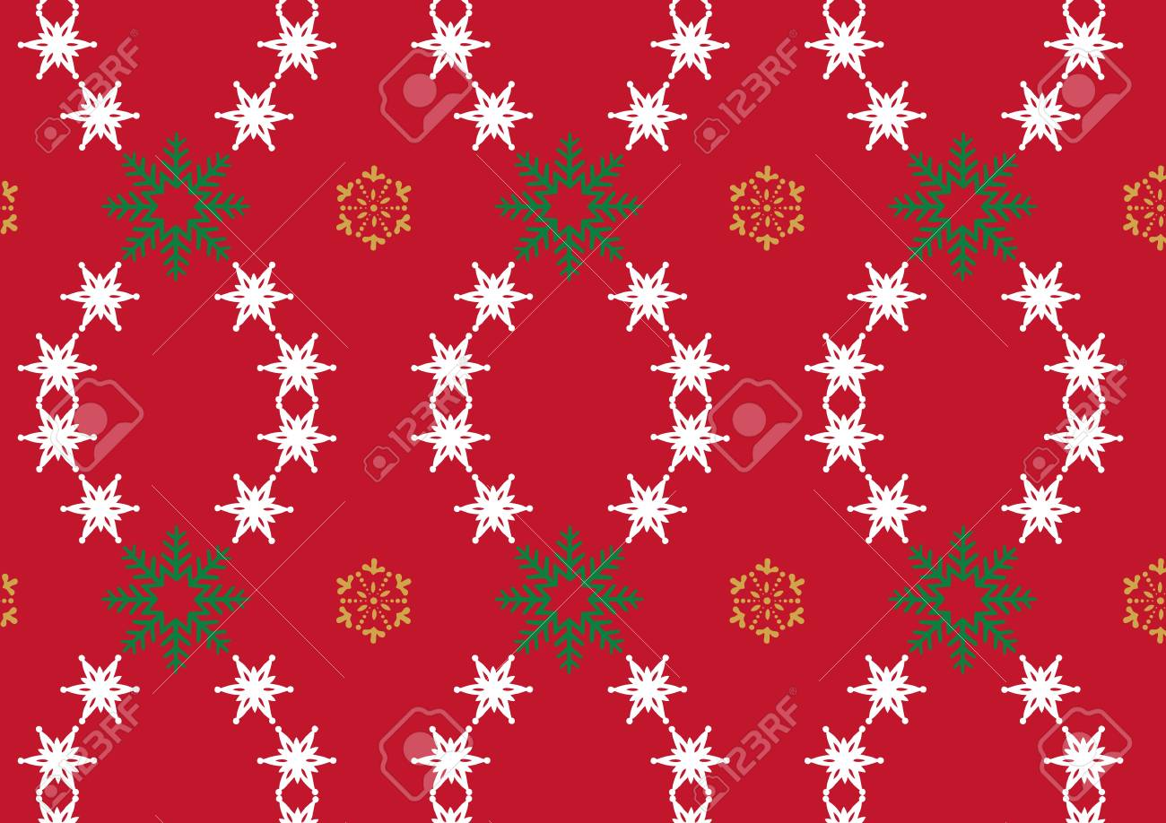 Snowflake on Red Background Stock Vector - 16188575
