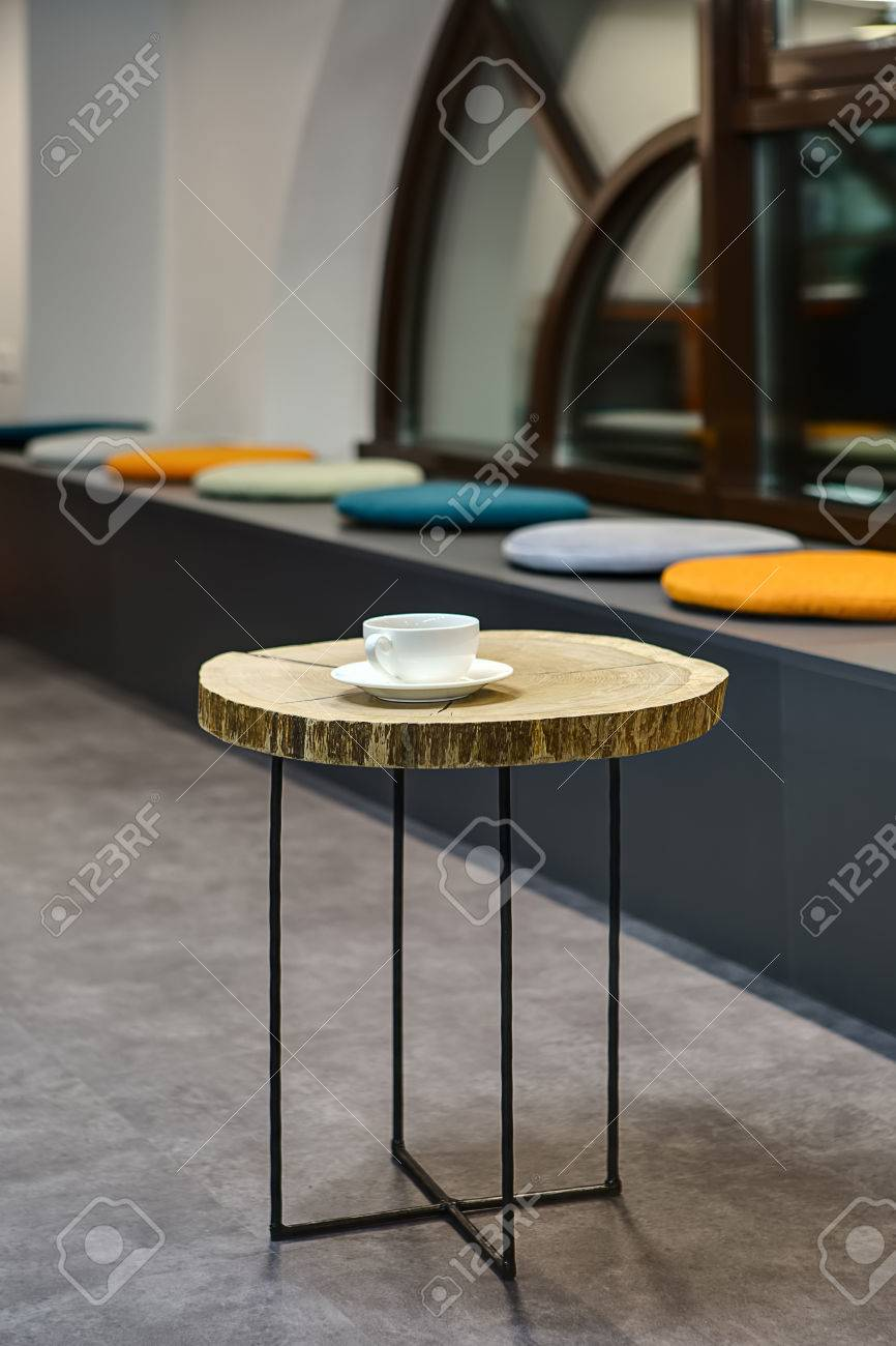 Awe Inspiring Small Round Wooden Table With Black Metal Legs On The Background Caraccident5 Cool Chair Designs And Ideas Caraccident5Info