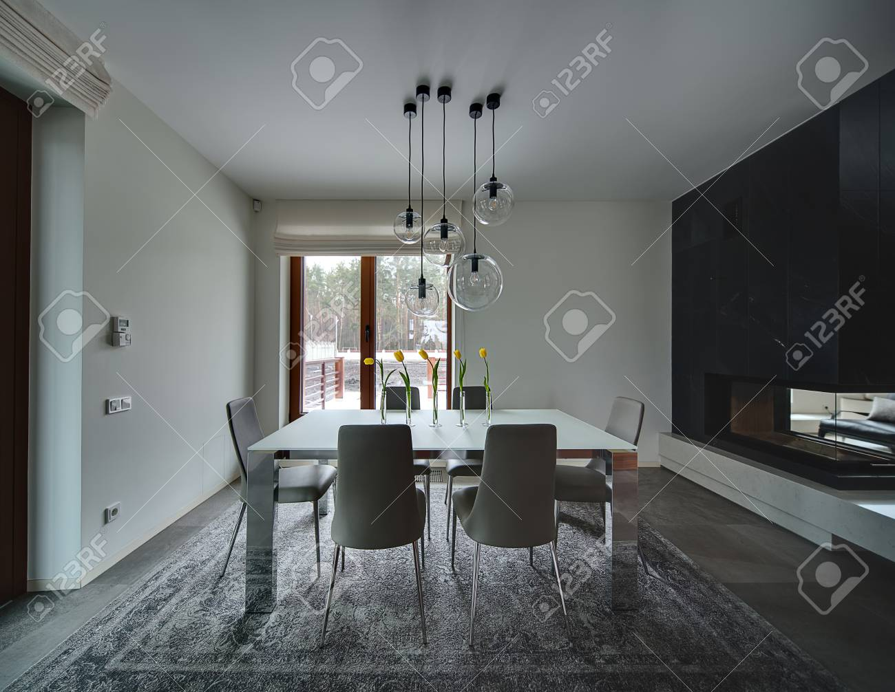 Room With Light Walls On The Floor There Are Gray Tiles And Stock Photo Picture And Royalty Free Image Image 54432936