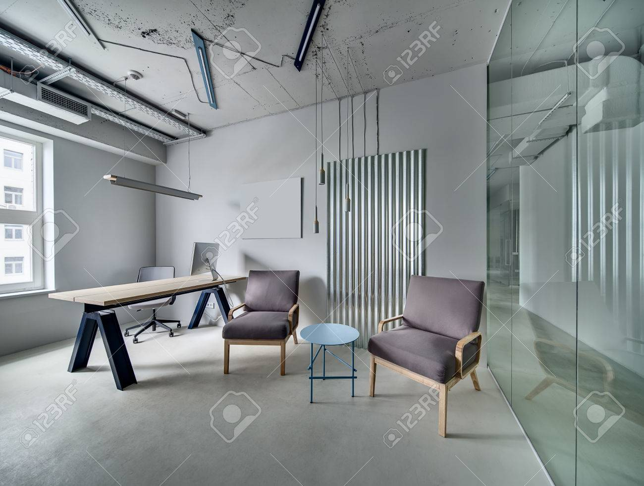 Gray room in a loft style with a glass partition with glass door gray room in a loft style with a glass partition with glass door there is planetlyrics Choice Image