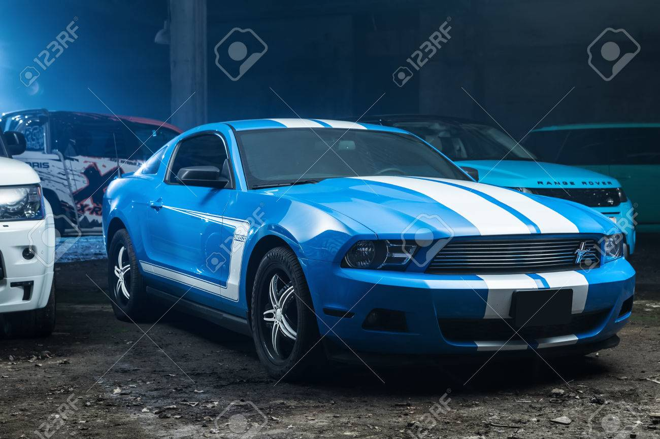 Kiev, Ukraine   14 May 2014: Ford Mustang Tuning Sport Car. It