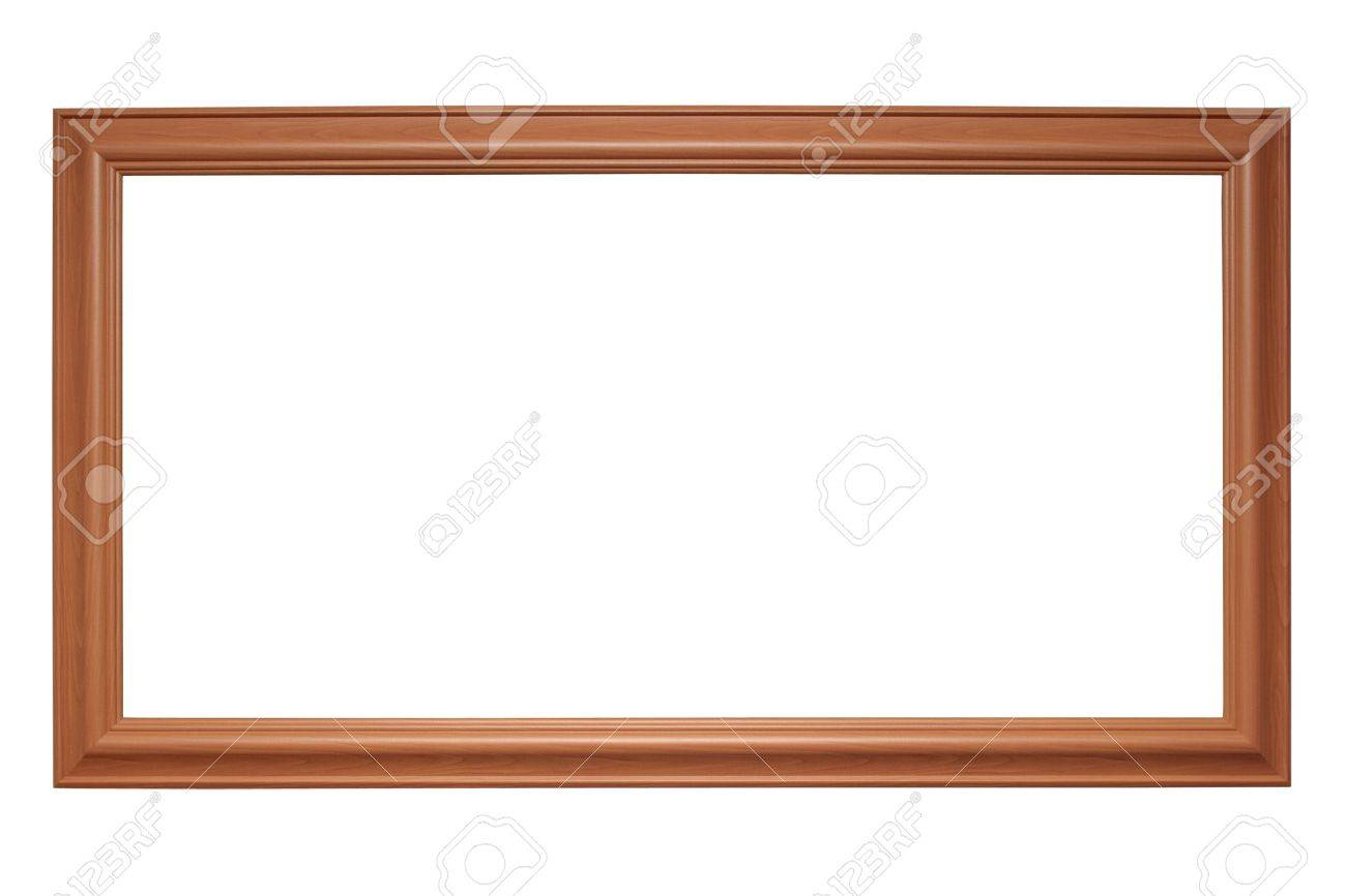 Empty Panoramic Picture Frame Isolated On White Stock Photo, Picture ...
