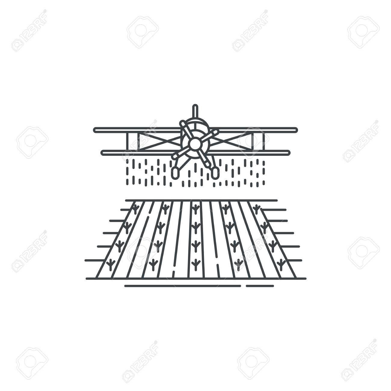 Bauernhof Ernte Staubtuch über Der Feldlinie Symbol. Umreißen Sie ...