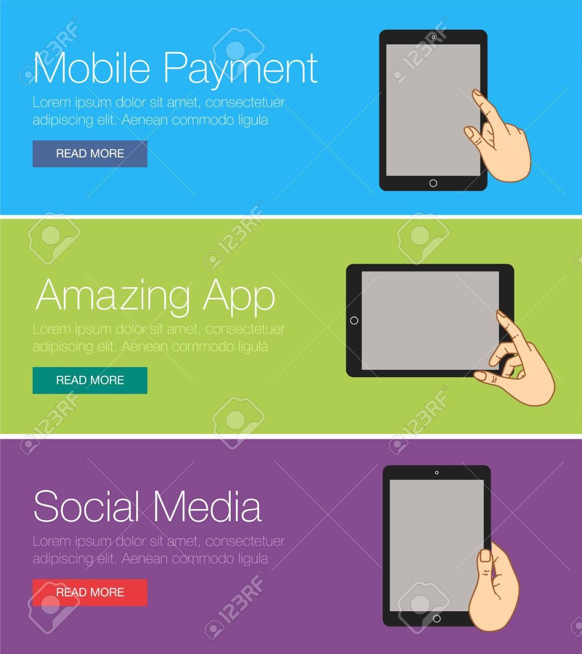 Flache Design Konzept Fr Website Templates Mobile App Smartphone