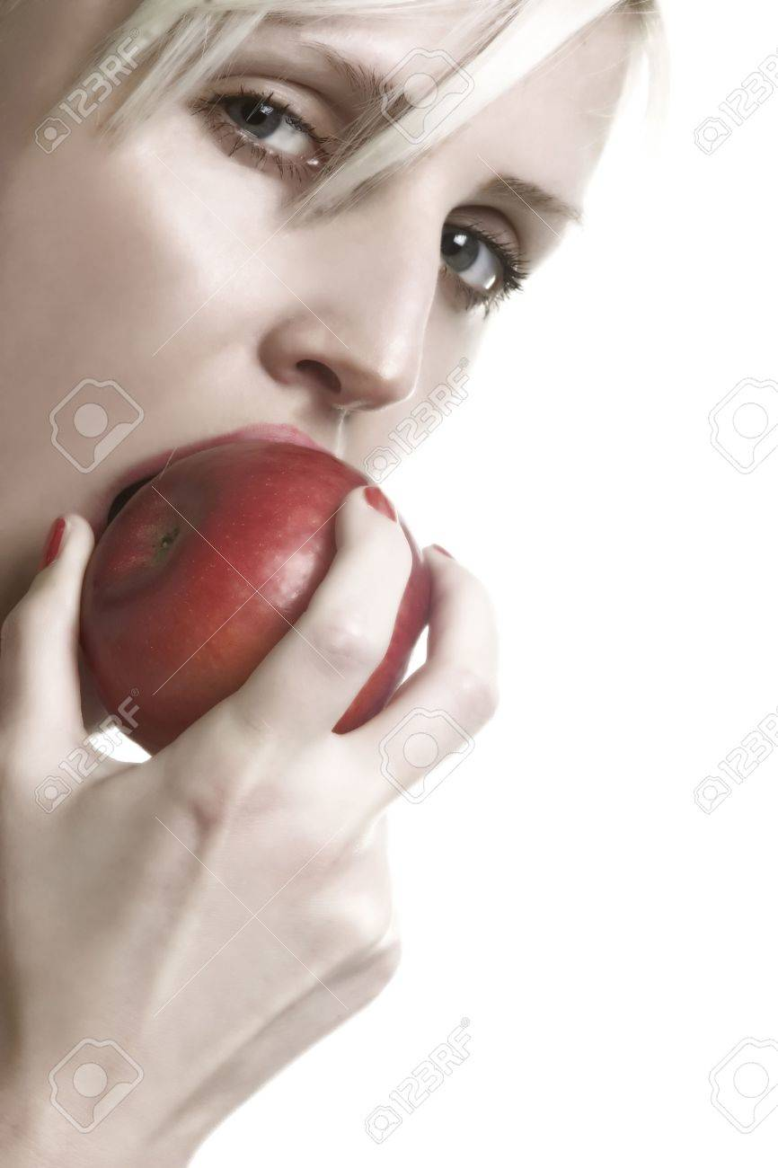 nip the apple Stock Photo - 392706