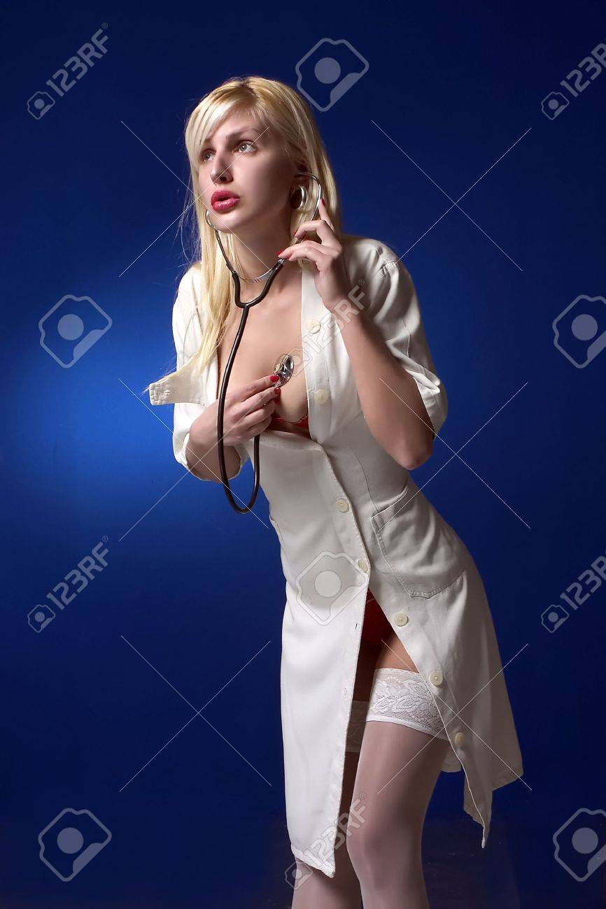 nurse with stethoscope Stock Photo - 392600
