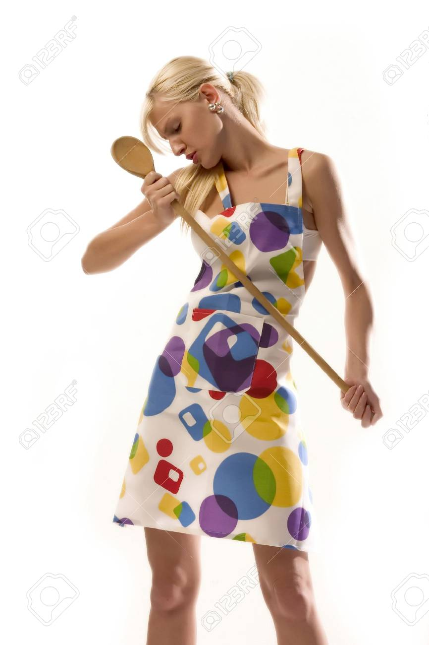 housewife in trance Stock Photo - 555716