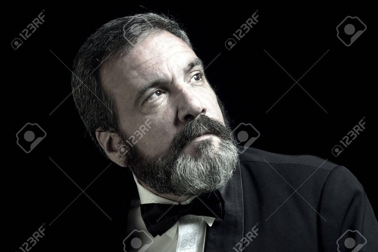 black and white portrait of gentleman Stock Photo - 1165356