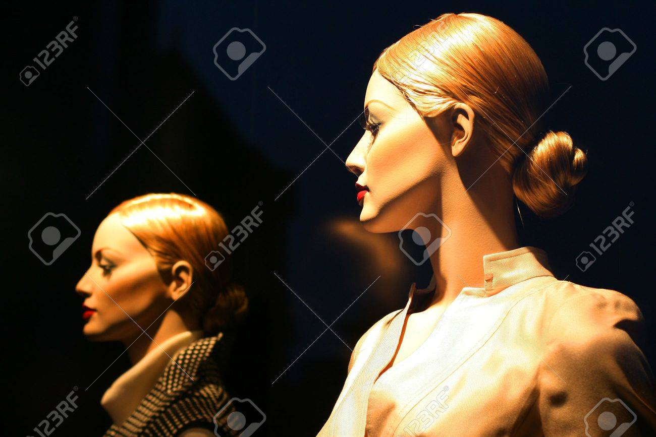 Mannequin in shop window of the fashionable shop Stock Photo - 4252043