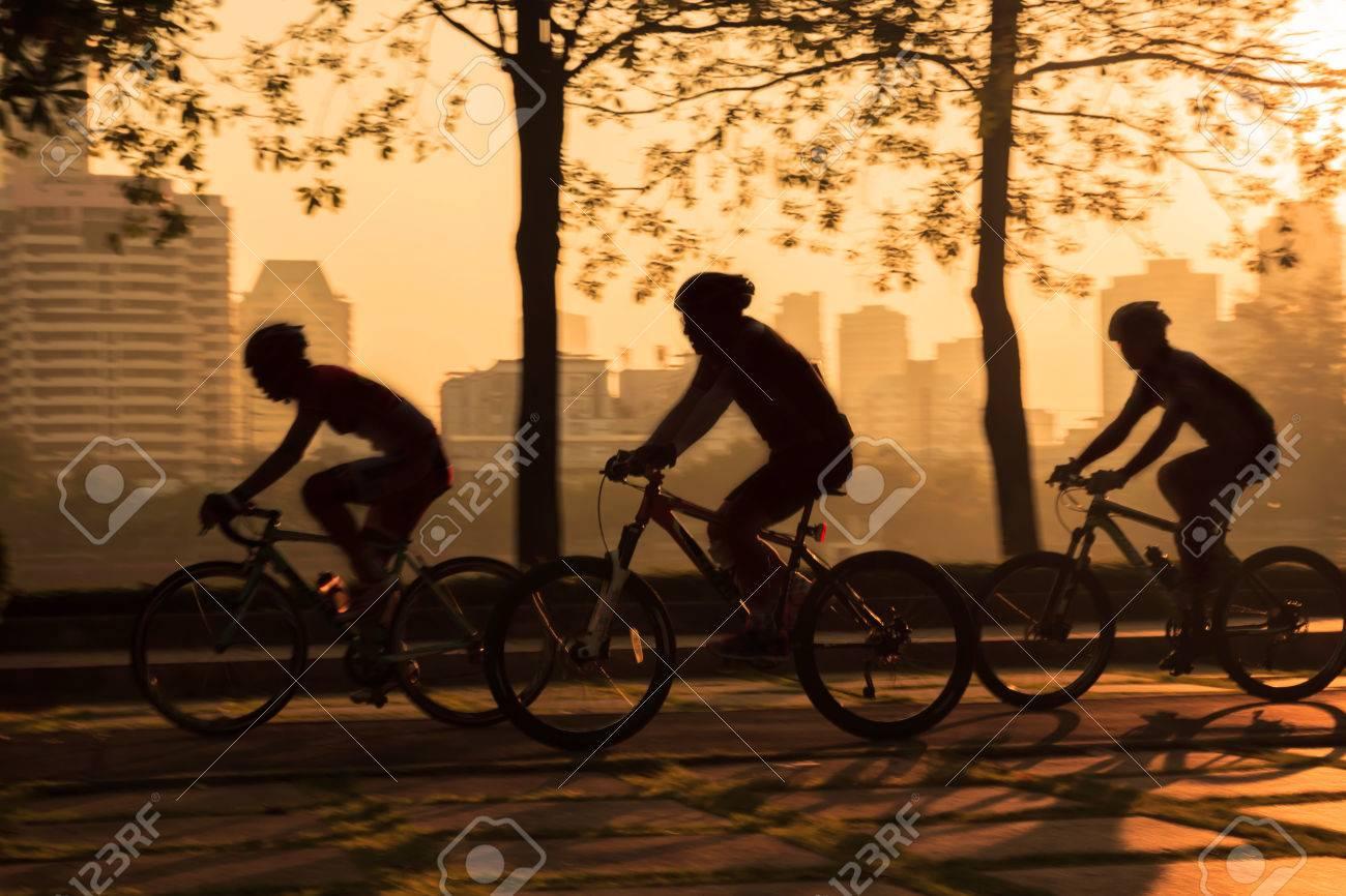 Biking taken with low speed shutter,motion blur - 35620044