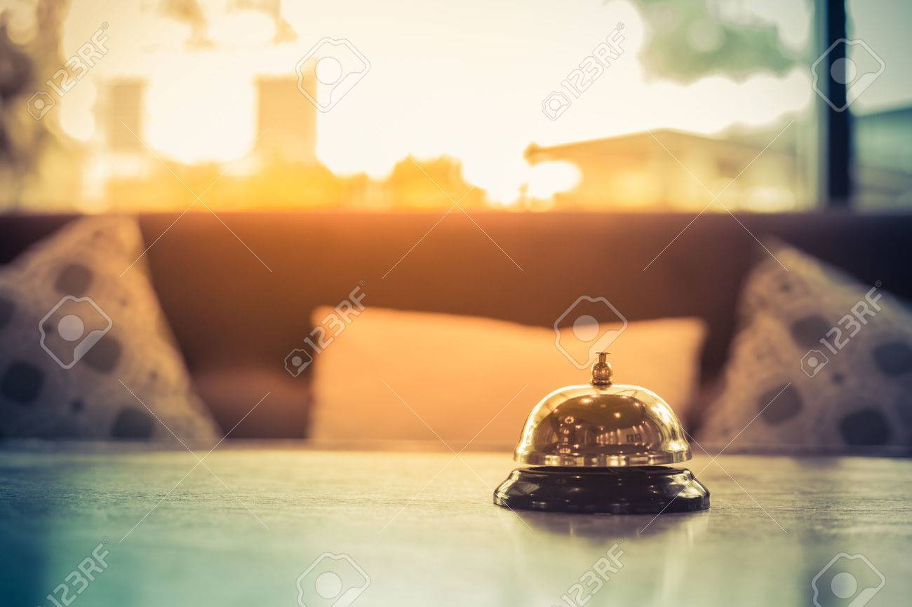 Hotel service bell vintage with sofa - 65316762