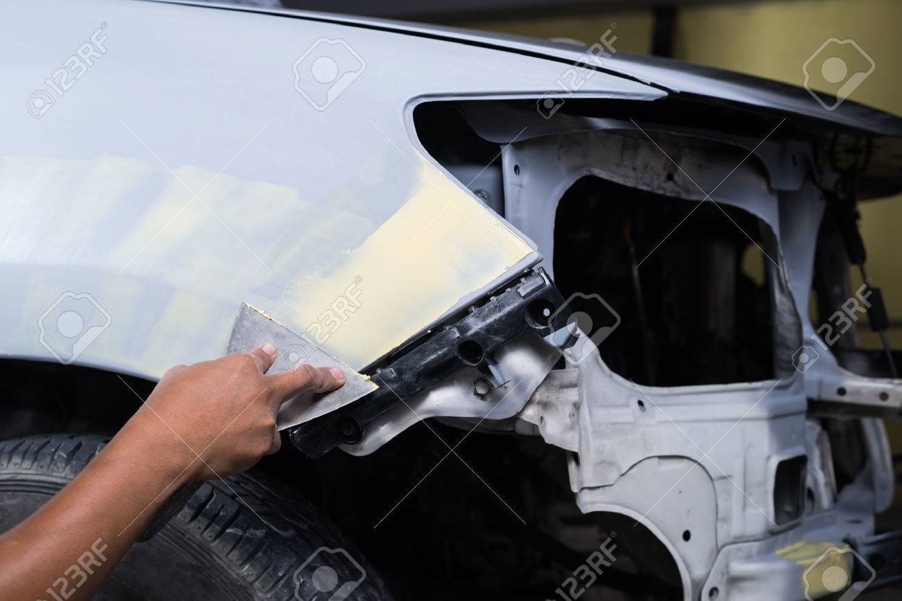 How to putty the car 5