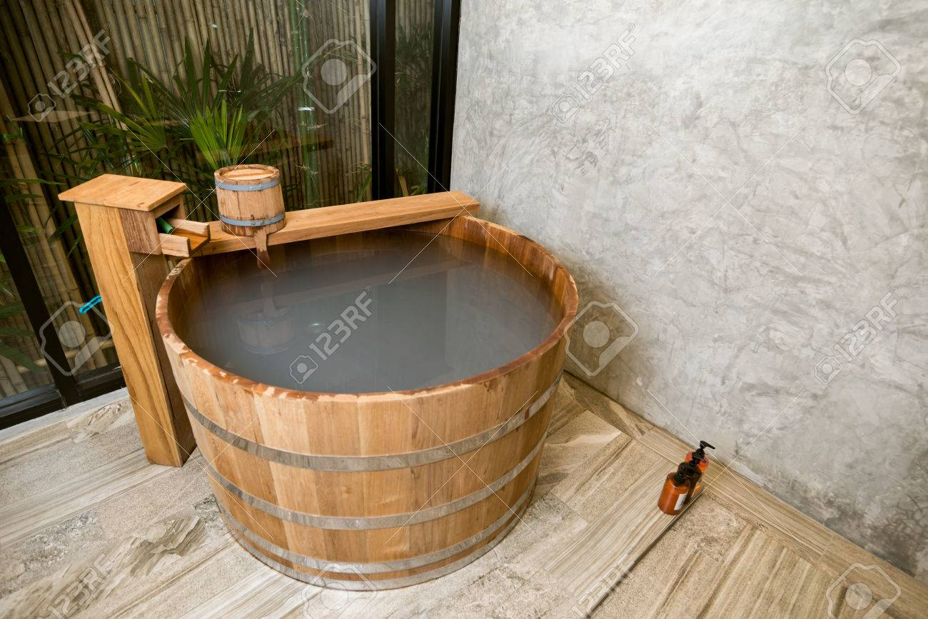 Onsen Series Wooden Bathtub Stock Photo Picture And Royalty Free Image Image 51524122